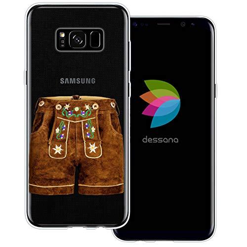 dessana Oktoberfest München transparante silicone TPU beschermhoes 0,7 mm dunne mobiele telefoon soft case cover tas voor Samsung Galaxy S Note, Samsung Galaxy S8, Leren broek kort