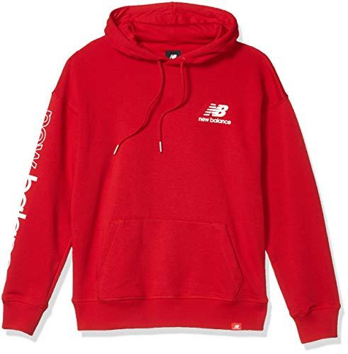 New Balance Damen Essentials Icon Pullover Sweatshirt, Rojo, XS