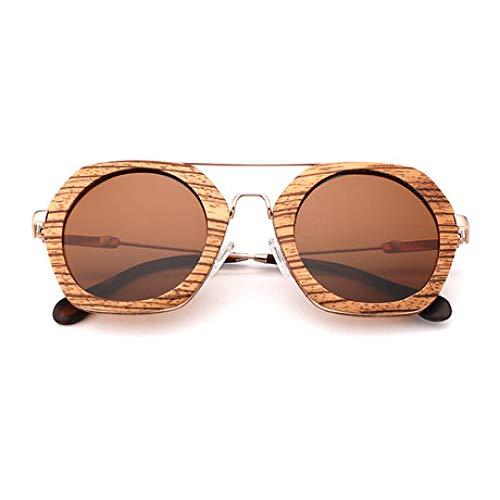 YDJGY Gafas De Sol Gafas de sol de madera con protección UV polarizada para exteriores Gafas para hombres y mujeres Regalo de moda