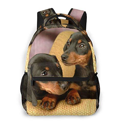 Backpacks,Bookbag Cane Bassotto Cane Con Amore, Borse Scuola Morbide Per Adulti Ragazzi Ragazze,40cm(H) x29cm(W)