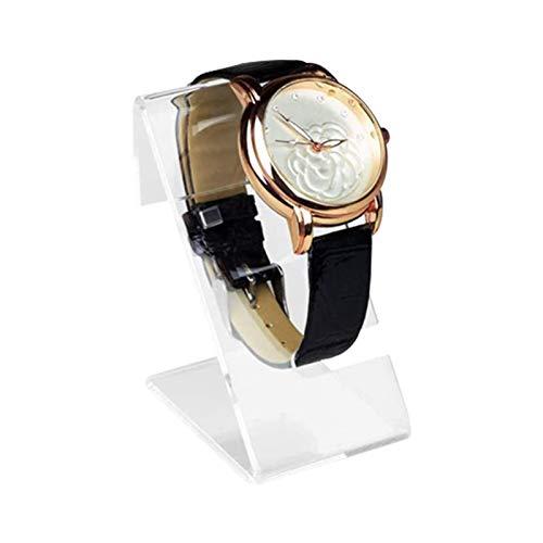 Jatour Uhrenständer aus Acryl - Transparent Uhrenständer Stand Vitrine Uhrenhalter Uhrenträger Armbanduhr Armband Display Steht für Zuhause Oder Store Verwendung