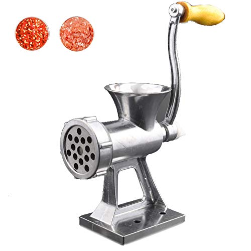 Manual Meat Grinder, Multi-Function Mincer Stuffing Machine Food Processor Small Kitchen Hand-cranked Meat Grinder for Baby Food Supplement Meat Nuts Vegetables and Fruits