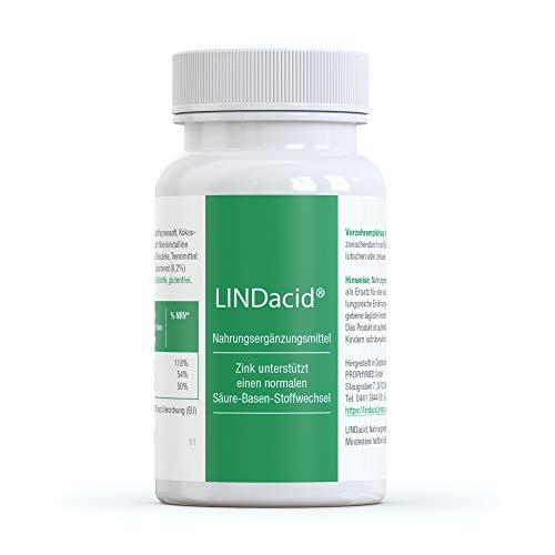 LINDacid ® die gesunden Basentabletten (50 Stück) - mit Calcium, Magnesium & Zink. Speziell das Zink sorgt für eine gute Säure Basen Balance im Körper, mit getrocknetem Kartoffelsaft, 100% vegan