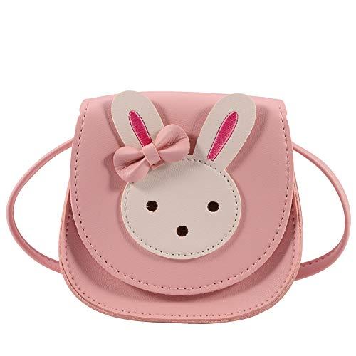 Heyu-Lotus Süße Umhängetasche kleine Mädchen Handtaschen kinder Prinzessin Mini Taschen handtasche Mädchen klein Hase mit verstellbarem Gurt für Kinder Mädchen(Rosa)