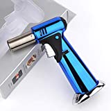 Butane Torch, Blow Torch, Culinary Torch Refillable Kitchen Butane Torch Lighter, Ceramic Technology, Adjustable Flame Size for Barbecue, Baking (Butane Gas Not Included)