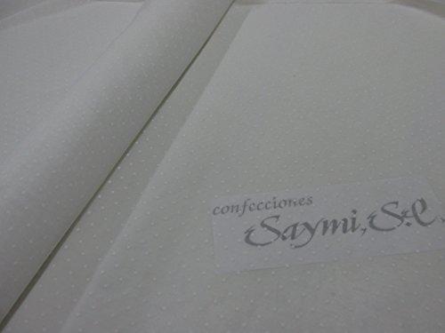 Confección Saymi Metraje 3,00 MTS Tela etamín Visillo Cortinas Ref. Plumeti Color Blanco, con Ancho 2,80 MTS.