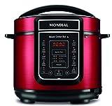Mondial PE-39 - Panela de Pressão Elétrica Digital Master Cooker Red 5L, Vermelha