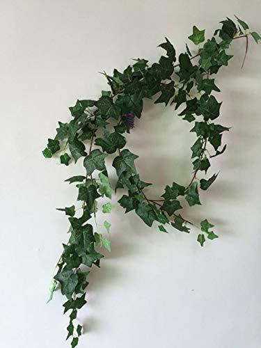 Kunst efeu fake pflanzen eukalyptus girlande Partheno cissus für Büro, Home, Küche, Garten,Hochzeit, Party Wanddekoration -(2 Stücke)