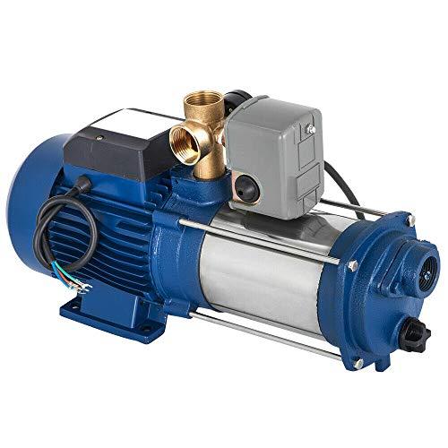 Berkalash 9600 L/H Gartenpumpe Kreiselpumpe, 2200W Zentrifugale Wasserstrahlpumpe, Hauswasserwerk 2850 U/min Wasserpumpe, für Gartenbewässerung, Hauswasserversorgung