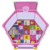 RENJUN Box a 6 Pannelli con canestro, Baby Toddler Security Cortile, Grandi Piedi Anti-ribaltamento...