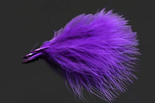 Tigofly Truthahn-Marabu-Blutfedern, 100 Stück/Menge, 6 Farben, Woolly Bugger, Luftschlangen, Fliegenbinden, Federmaterial., violett
