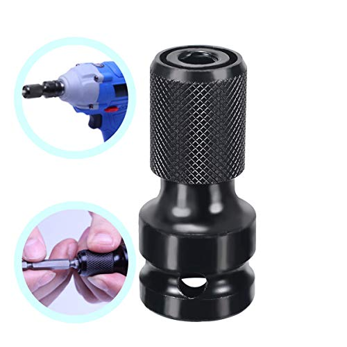 Without brand WHF-WUJIN, 1pc 1/2' Drive To1/4 Hex Shank Socket Adapter Converter Magnetic Nut Driver Set Socket Adapters