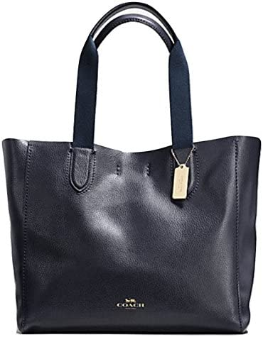 COACH LARGE DERBY TOTE IN PEBBLE LEATHER IMITATION GOLD MIDNIGHT F59818 product image