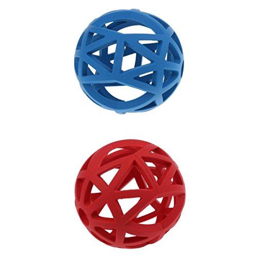 Gitterball für Hunde, blau und rot, 2er / Set