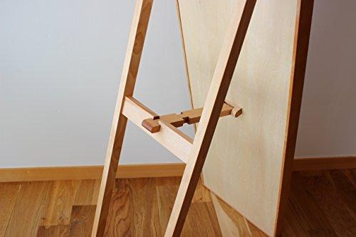 オークヴィレッジミラー・鏡ナチュラル幅31cm×奥行4cm(スタンド時51cm)×高さ148cm52081-10