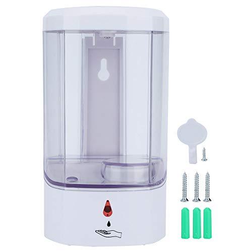 LRXG Dispensadores de loción y de jabón Dispensador De Jabón De Bomba Automático Sin Contacto Montado En La Pared ABS Blanco De 800 Ml para Baño De Cocina