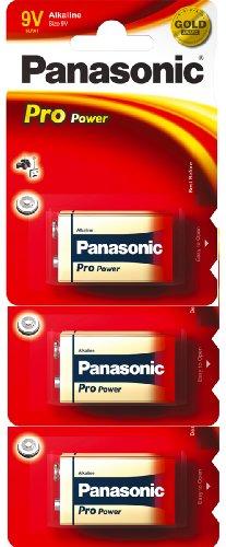 Panasonic 6LR61PPG  Pro Power Gold Alkaline-Batterien (9V), 3er-Pack