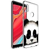 Zhuofan Plus Xiaomi Redmi S2 Hülle, Silikon Transparent Schutzhülle mit Muster Motiv Handyhülle Weiche TPU 360 Grad Bumper Kratzfest Durchsichtige Hülle Cover für Xiaomi S2 5,99