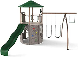 LIFETIME 290633 Adventure Tower Swing Set, Earthtone