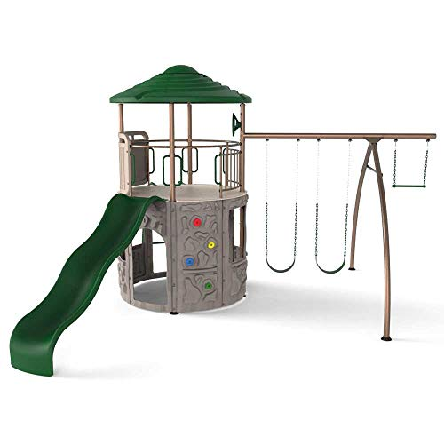 Lifetime Adventure Tower Swing Set - Earthtone (290633)
