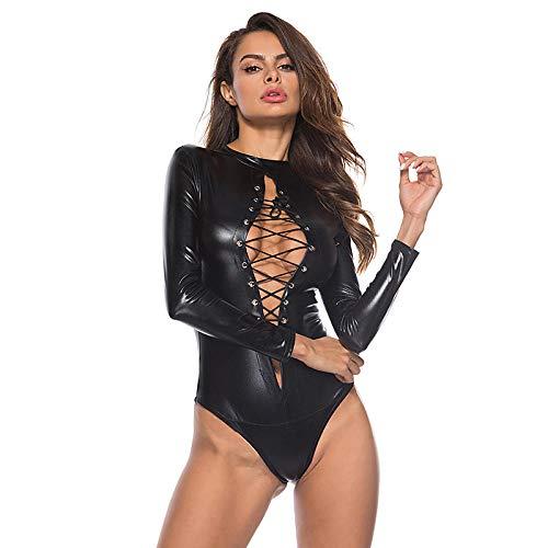 Erotische Nachthemden Dames Sexy Lingerie Sex Ondergoed Vrouwen Erotische Lingerie Sexy Lederen Latex Jurk