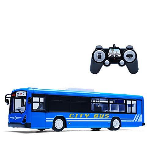 YXWJ Simulation Télécommande Bus Simulation Télécommande Bus Autobus Scolaire À Distance Modèle De Charge Jouet Voiture Éveil Cadeau pour Cadeaux Enfants Âge 6+
