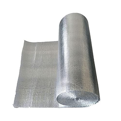 Rollo Aislante Termico de 10m Reflexivo Multicapa de Burbujas de Aire Paneles de Fieltro Autoadhesivos Termico Aluminio Reflexivo Para Techo, pared y Fachada Autoadhesivo(Size:1X30M/3.28X98.4FT)