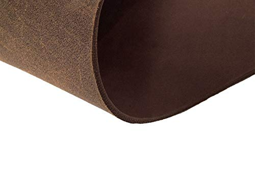 hund-natuerlich Fettleder Zuschnitt Rindsleder 3,5mm-4,0mm Blankleder Dickleder (40cm x 10cm, braun)