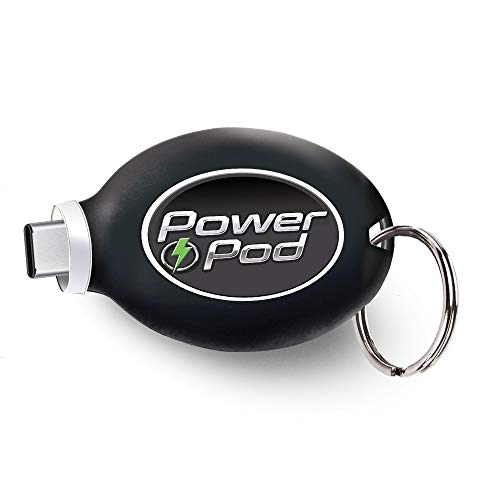Power Pod Portable Phone Charger for Android Type C, Fast Charger Keychain Type C Charger USB-C Port, Wireless Phone Charger, 800 mAh Wireless Power Bank Android Charger As Seen On TV