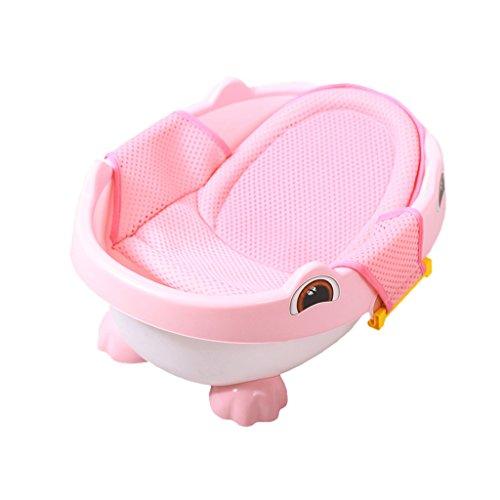 La petite baignoire de bébé peut s'asseoir le baril inclinable de bain de bébé d'enfant de double-usage, approprié pour 0-2 ans (Couleur : Pink, taille : 58CM x 42CM x 22CM)
