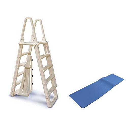 "Confer 7100B Evolution A Frame Above Ground Swimming Pool Ladder 48 to 54"" + Pad"