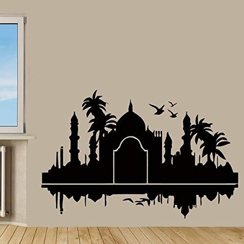 Tianpengyuanshuai Indiase muursticker palm vogel vinyl kunstenaar hoofddecoratie muursticker woonkamer moderne slaapkamer muursticker