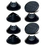 Protectores para patas de horquilla – Protectores de goma antideslizantes para suelos duros – Universal para barras de acero de 10 mm y 12 mm (8, negro)