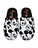 Disney | Mickey Mouse All Over Print Women's/Ladies Slip-On Slippers (8 UK) Grey