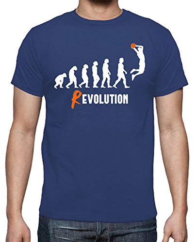 latostadora - Camiseta Basket Revolution para Hombre Azul Royal L