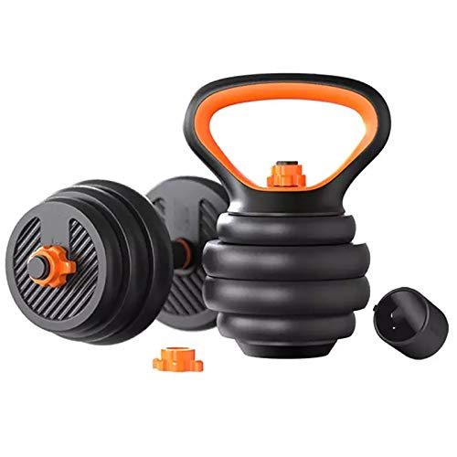 MICEROSHE Mancuernas Duraderas 10kg / 20kg / 30kg Smart Dumbbell Hogar Kettlebell Men's Fitness Equipment Experiencia Confortable (Color : Black, Size : 20kg)