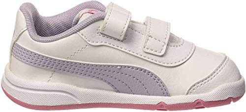 Puma Unisex Baby Stepfleex 2 Sl Ve V Inf Sneakers, Weiß White Purple Heather Peony 12, 21 EU