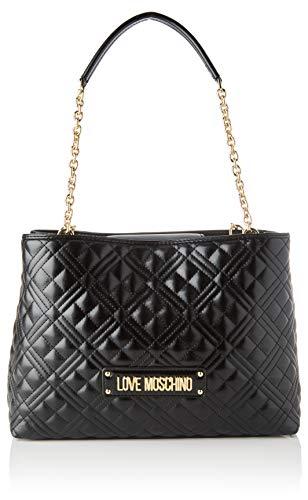 Love Moschino Jc4205pp0a, Borsa Tote Donna, Nero (Black Quilted), 12x22x32 cm (W x H x L)