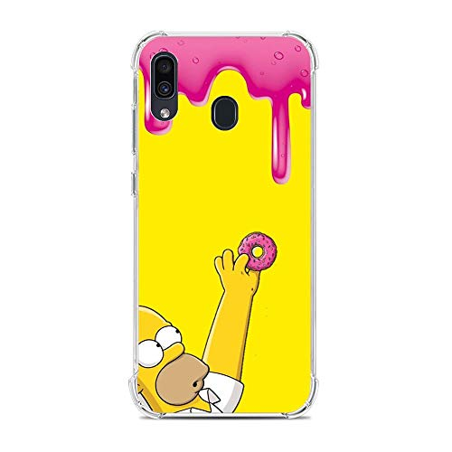 Ultra TPU Silicone Rubber Gel Edge Protection Cover Case for Samsung Galaxy A30/A20/M10S-The Bart-Simpson Cartoon 4