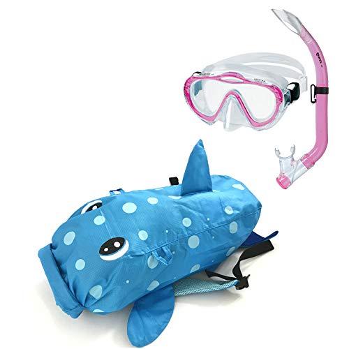 Abenteuertauchen Mares Sea Friends Hai- Kinder Schnorchelset Sharky (4-8 Jahre), Farbe:pink/rosa