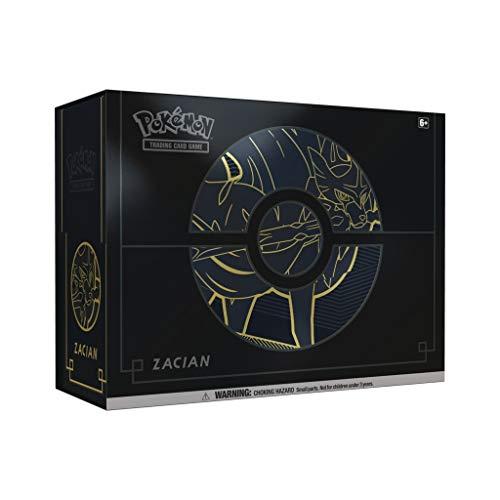 Pokemon POK82743 Pokémon TCG: Schwert & Schild Elite Trainer Box Plus Zacian/Zamazenta (eins nach Zufall)