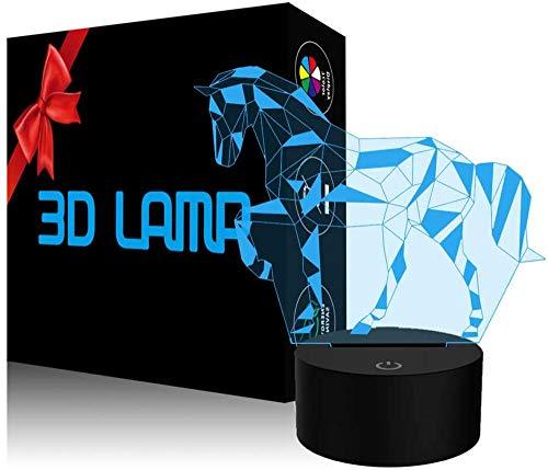 Optische Illusion 3D-Lampe, Puzzle, Pferd, 3D-Nachtlicht, 16 Farbwechsel, Dekolampe – Geschenke für Kinder und Raumdekoration