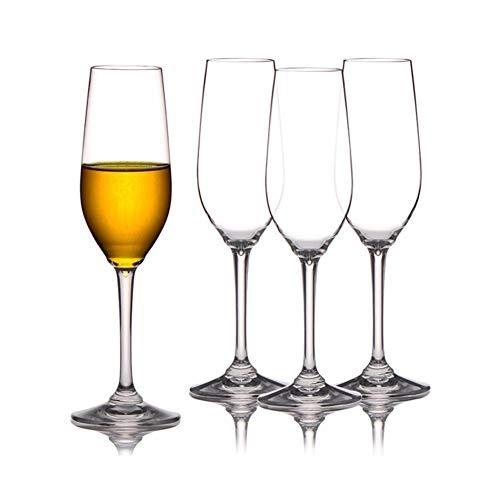 GZSC Copas de Vino Tinto Vidrio Flautas de champán Copas de Fiesta de la Boda Inicio 4pcs plástico Vinería Jugo Vino Regalos irrompible Vasos for Beber (Color : 225ml)