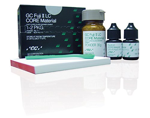 GC America 000182 Fuji II Light-Cured Glass Ionomer Core Build-Up Material Powder, 35 g