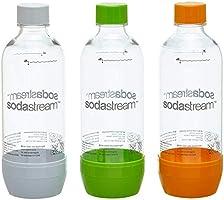 SodaStream Zestaw Promocyjny Butelek Z Odpornego Na Pęknięcia, Krystalicznie Czystego PET, 1 Litr 2 + 1 Sztuki, W...
