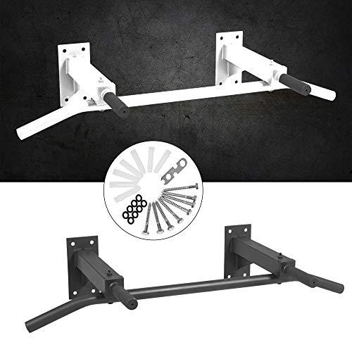 GORILLA SPORTS® Klimmzugstange zur Wandmontage Schwarz - Reckstange max. Belastbarkeit bis 350 kg