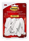 Command Medium Wire Hooks Value Pack, White, 7-Hooks, 12-Strips, Organize Damage-Free