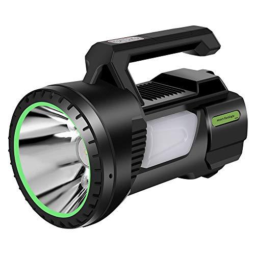Guiseapue Linterna foco led recargable linterna potente Luz Camping 6500mAh, linternas Focos LED para Camping Reparación de Automóviles Ciclismo Actividades Exteriores