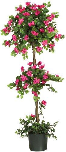 Nearly Natural 5228 Mini Bougainvillea Topiary Beauty, 5-Feet,9' x 9' x 62.5'