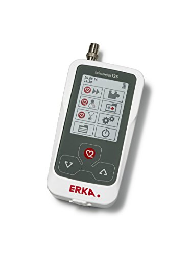 ERKA 411.20493 Erkღ125 Pro mit GREEN CUFF Smart Rapid, Elektronisches Blutdruckmessgerät, Größe 4, grau
